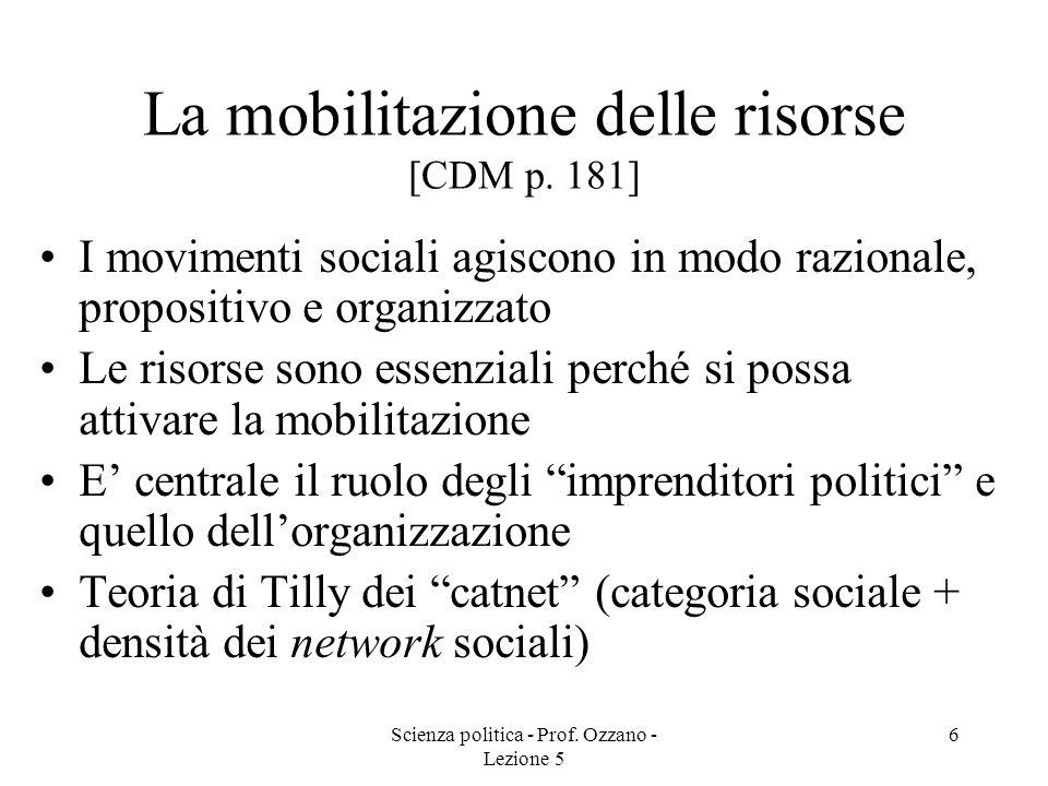 La mobilitazione delle risorse [CDM p. 181]